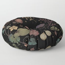 Wild Chicken with Autumn Vines Floor Pillow