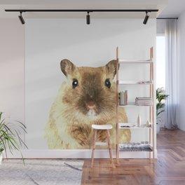 Hamster Portrait Wall Mural