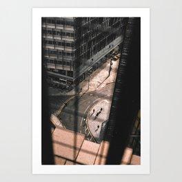 Urban scene Art Print