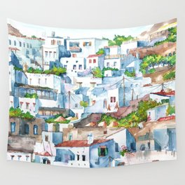 Panorama of Lindos Wall Tapestry