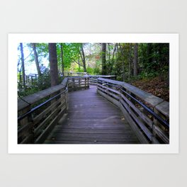 Crooked Paths Look Straighter As We Approach The End Art Print