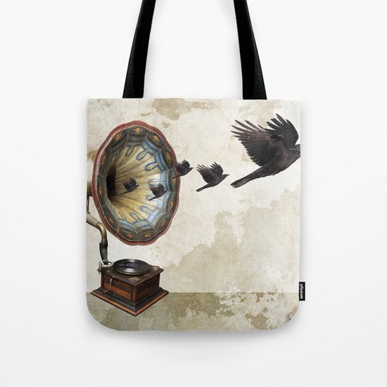 the sound of crows Tote Bag
