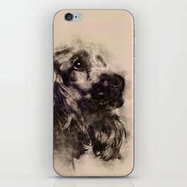 English Cocker Spaniel Sketch iPhone Skin