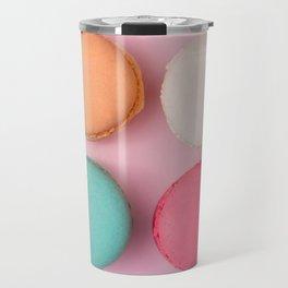 Pink Macaroons Travel Mug