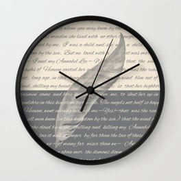 ANNABEL LEE (Allan Poe) Wall Clock