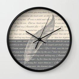 ANNABEL LEE (Allan Poe) Wall Clock