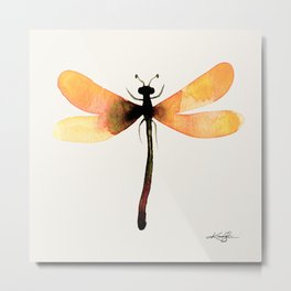 Watercolor Dragonfly 1 by Kathy Morton Stanion Metal Print
