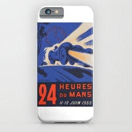 1955 Le Mans poster, vintage car poster, Le Mans poster, iPhone Case