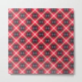 Red Tartan Pattern Metal Print