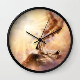 Dusk Tree Wall Clock