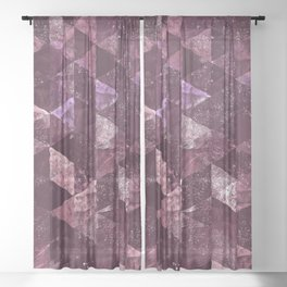 Abstract Geometric Background #24 Sheer Curtain