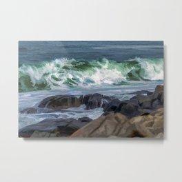 Waves at Flatrocks Metal Print