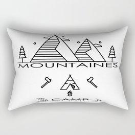vintage mountaines camping design Rectangular Pillow
