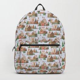 Gingerbread village pattern Backpack