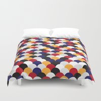 scales Duvet Covers featuring Scales by Daisho