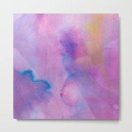 Purple Watercolour Metal Print