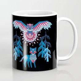 A Northern Folk Winter Woods Midnight Sun Coffee Mug