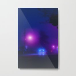 Synthwave Streets (3) Metal Print