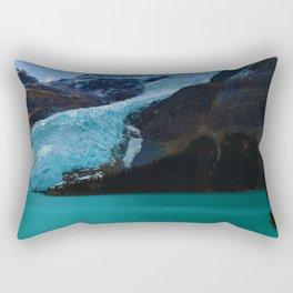 Berg glacier from Berg Lake, BC Rectangular Pillow