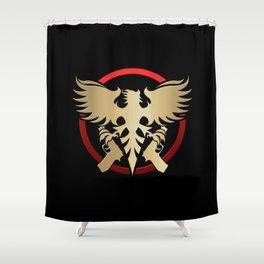 Phoenix with pistols emblem Shower Curtain