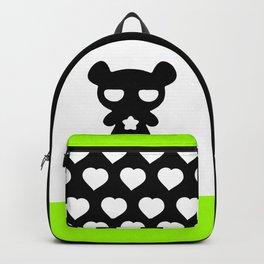 Cute Lazy Bear Black and White Backpack