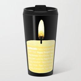 Happy Holidays Candle Travel Mug