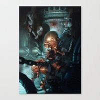 robot Canvas Prints featuring Robot by Nicolas Villeminot