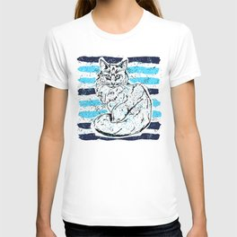 Cat stripes T-shirt