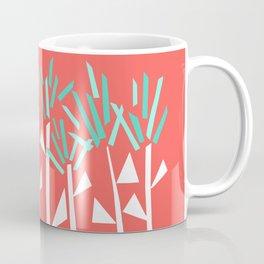 Coral and Teal Botanical Collage Print Coffee Mug