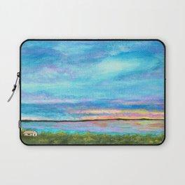 Good Morning, Beach House Sunrise Laptop Sleeve