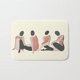 Woman Forms Bath Mat