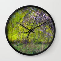 monet Wall Clocks featuring influence: monet by EnglishRose23