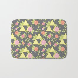 Garden of Power, Wisdom, and Courage Pattern in Grey Bath Mat