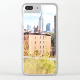 123. Empire State everywhere, New York Clear iPhone Case