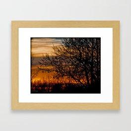 crab orchard sunset Framed Art Print