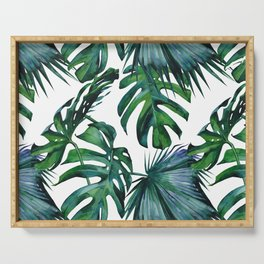 Tropical Palm Leaves Classic Serving Tray