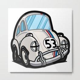 Cartoony - Drunk Herbie Metal Print