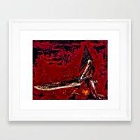 silent hill Framed Art Prints featuring Silent Hill Pyramid Head by Joe Misrasi