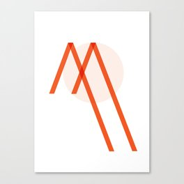 "Tipography ""M"" Canvas Print"