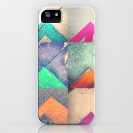 Bright Triangles iPhone Case