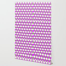 Diamond Repeating Pattern In Ultra Violet Purple and Grey Wallpaper