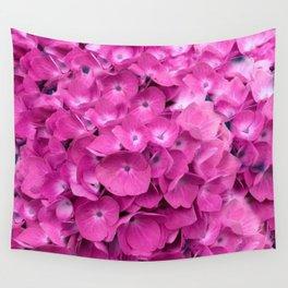 Artful Pink Hydrangeas Floral Design Wall Tapestry