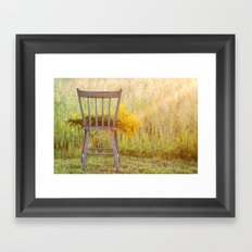 Remnants of a Summer Day Framed Art Print