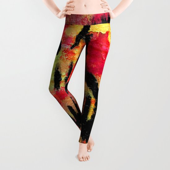 Ghost painting Leggings