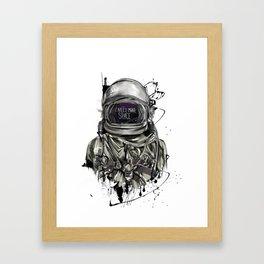Space cosmonaut Framed Art Print