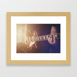 Guitar vibes Framed Art Print