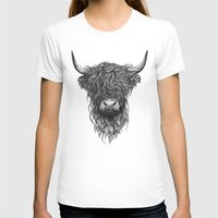 T-shirts featuring Highland Cattle by Thea Nordal