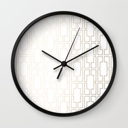 Simply Mid-Century in White Gold Sands Wall Clock
