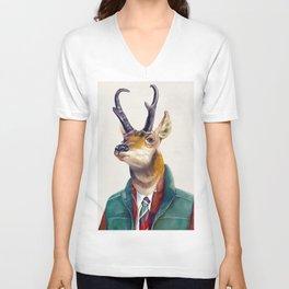 Pronghorn Deer Unisex V-Neck
