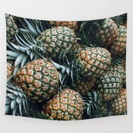 Tropical Pineapples Wall Tapestry